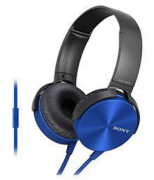 Sony MDR-XB450AP On-Ear Extra Bass(XB) Headphone With Mic (Blue)