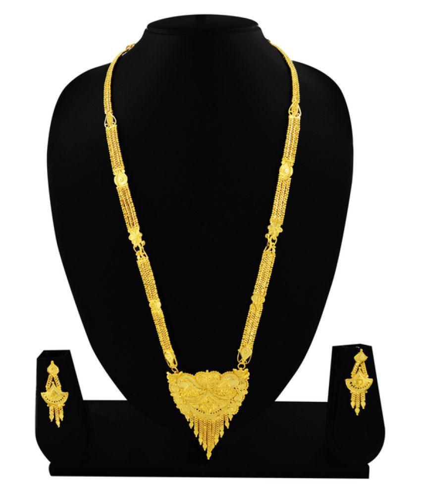 Kalyani Covering Golden Necklace Set