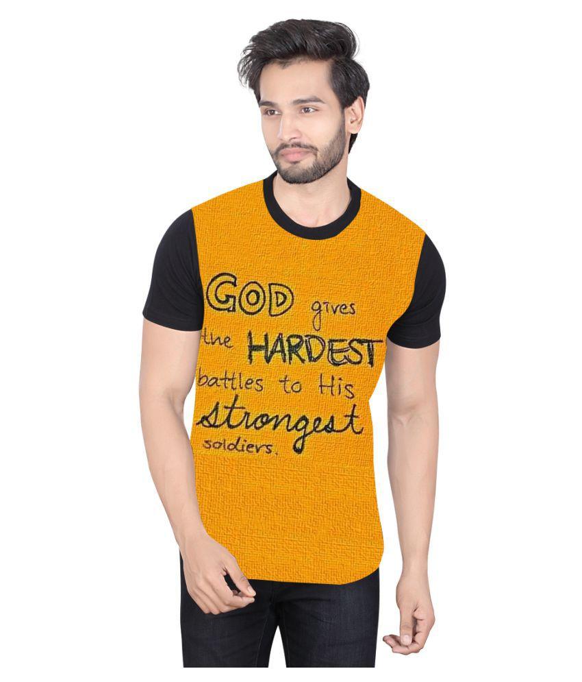 LUCfashion Yellow Round T-Shirt
