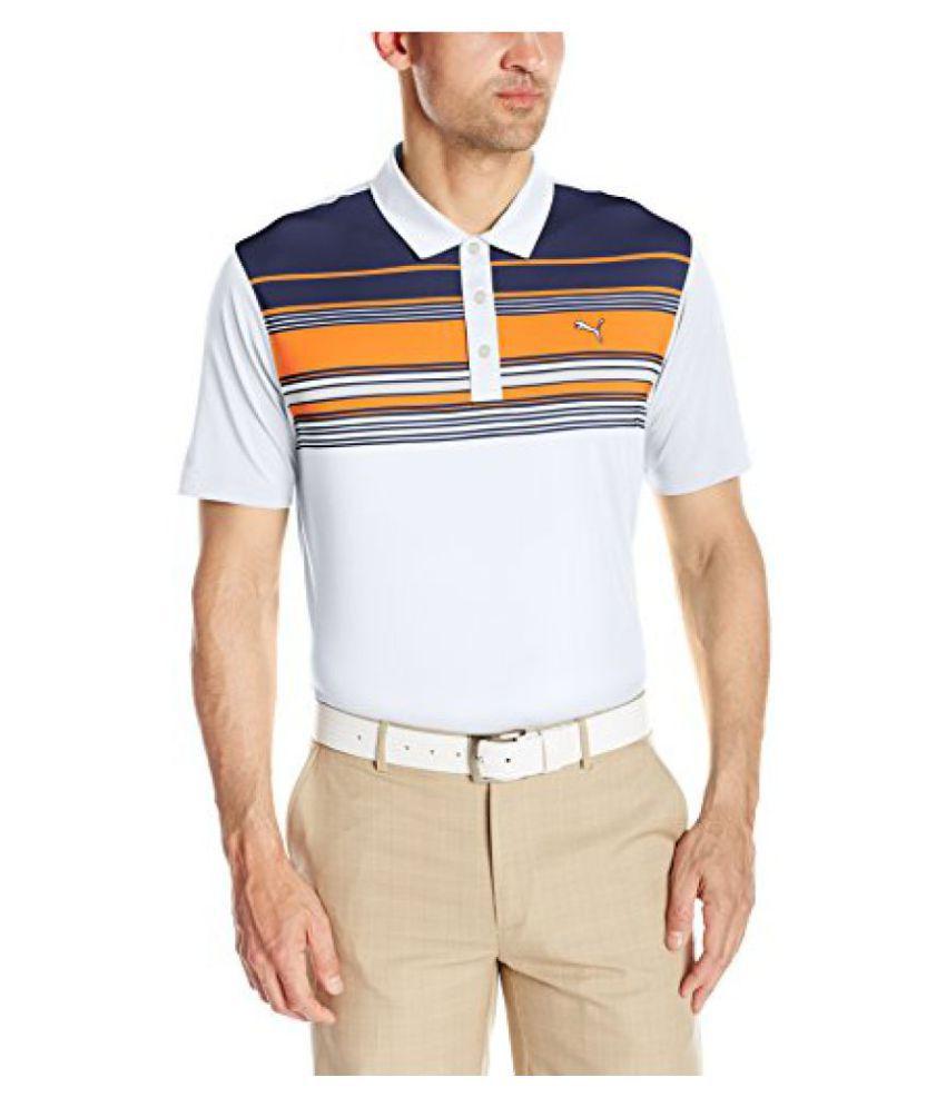 Puma Golf Men's Short Sleeve Key Stripe Polo