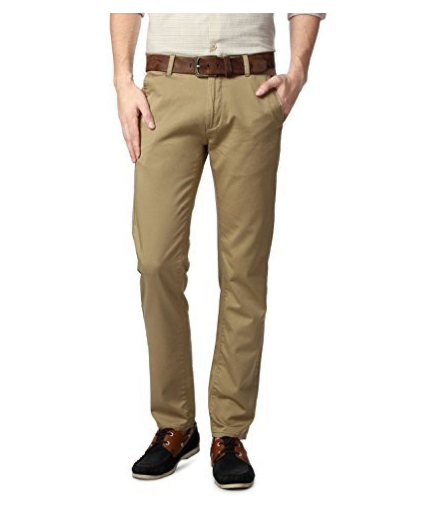 Peter England Khaki Trousers