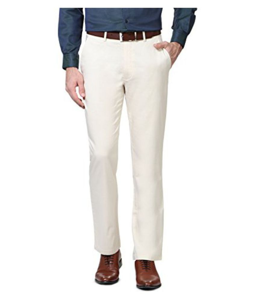 Peter England Mens Formal Trousers