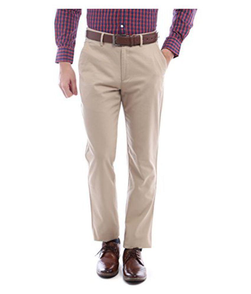 Peter England Slim Fit Pants _ PTF61500422_28_ Beige