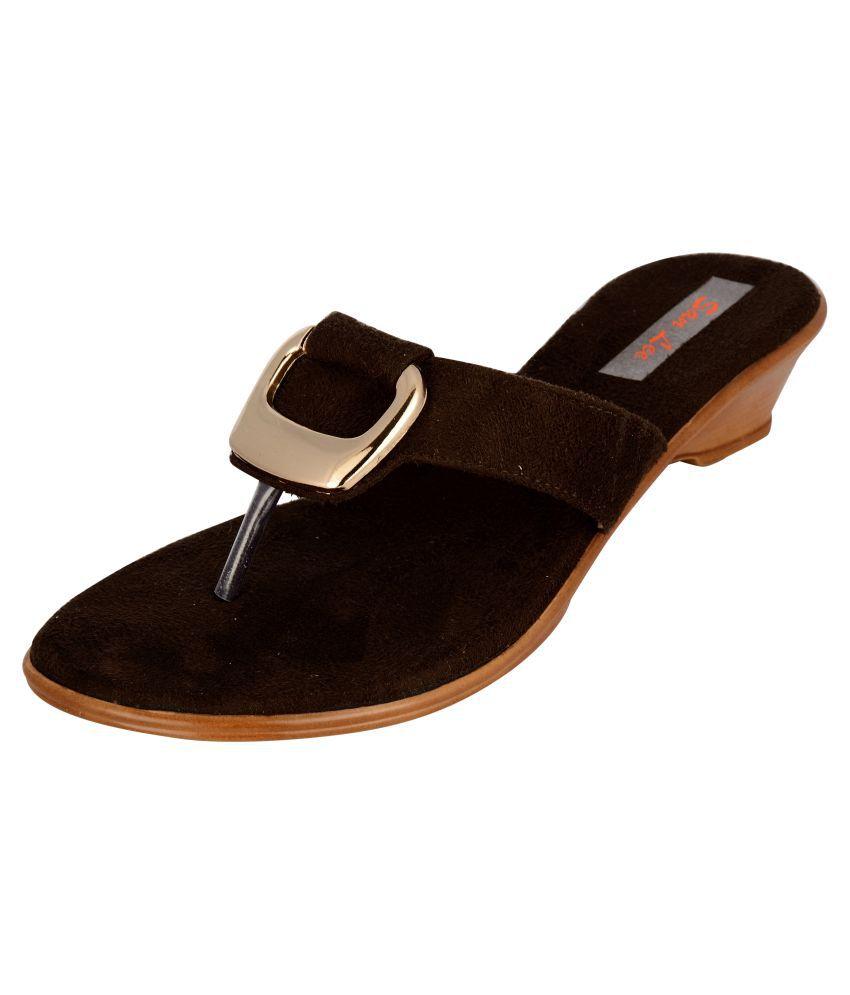 San Lee Brown Block Heels