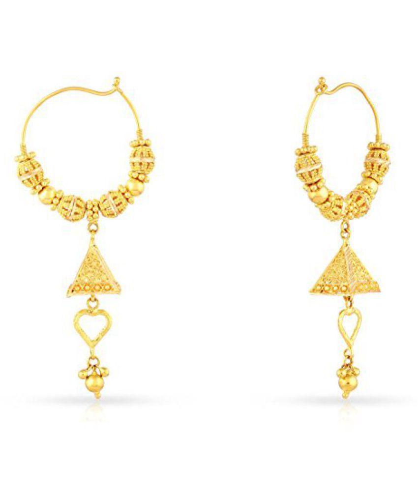 Malabar Gold & Diamonds 22k (916) Yellow Gold Clip-On Earrings