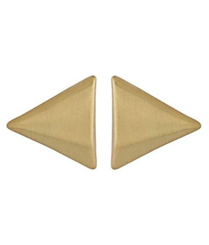 Voylla Triangular Gold Toned Studs