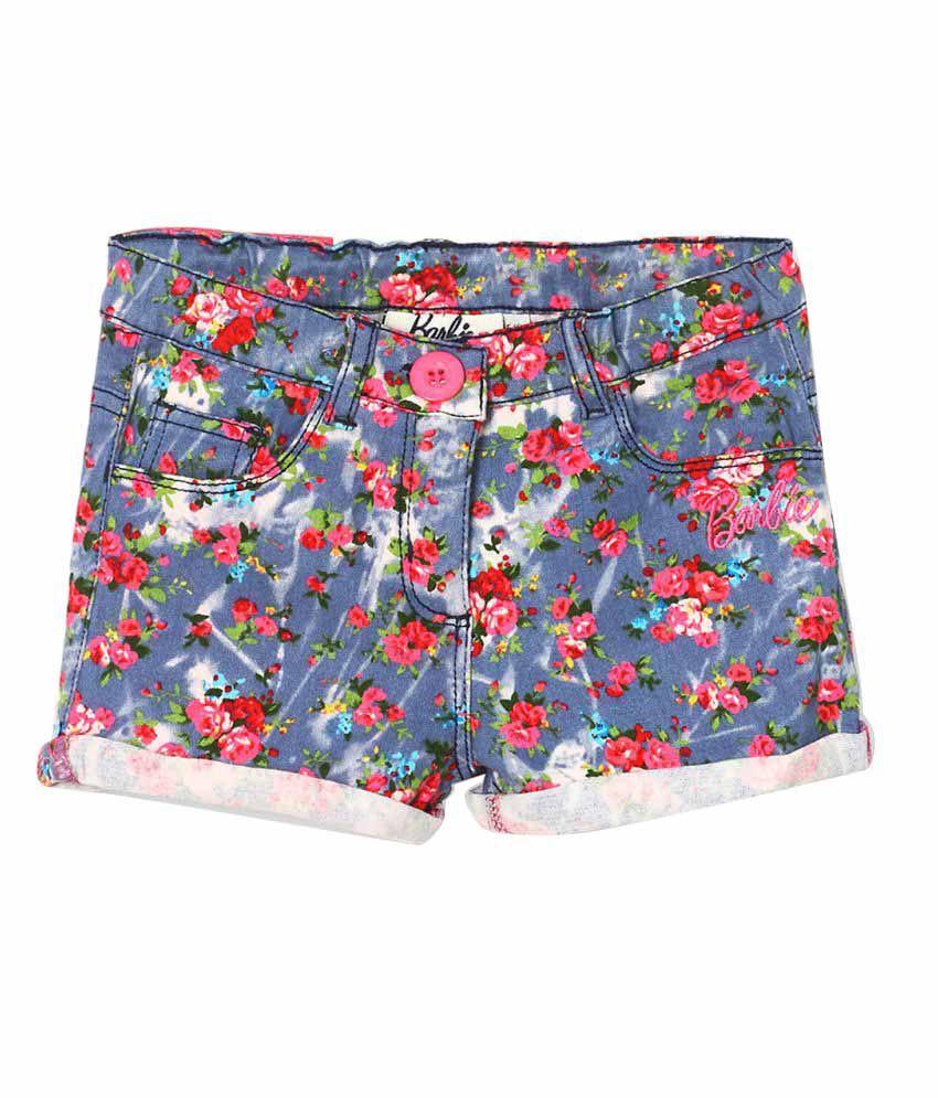 Barbie Multicolour Floral Print Hot Pant