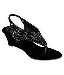 Altek Black Wedges Heels
