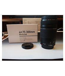 Canon EF 75-300mm f/4-5.6 III Telephoto Zoom Lens for Canon EOS 7D 60D EOS 70D Rebel SL1 T1i T2i T3 T3i T4i T5 T5i XS XSi XT & XTi Digital SLR Cameras with Accessories