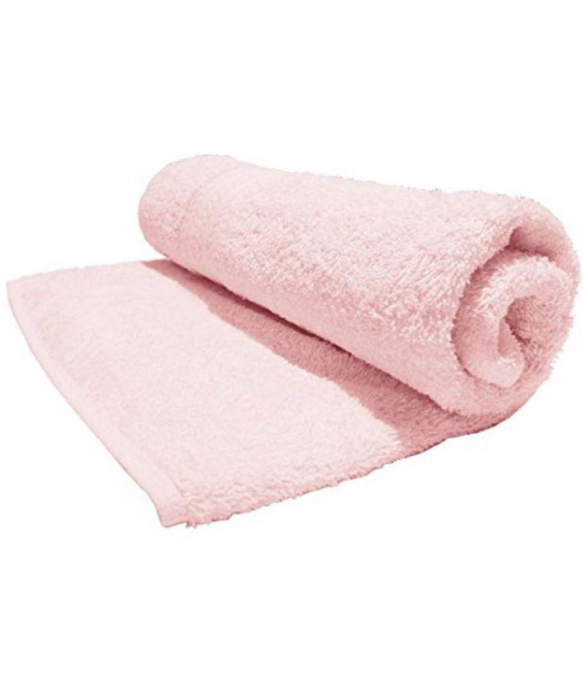 Bombay Dyeing Tulip Plain Dyed Cotton Large Towel, 450 GSM - Powder Pink