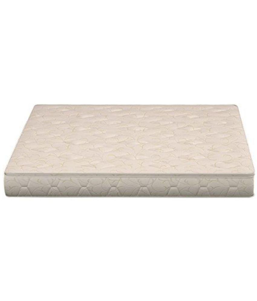 sleepwell esteem softec mattress 72 x 48 x 8 inches off white