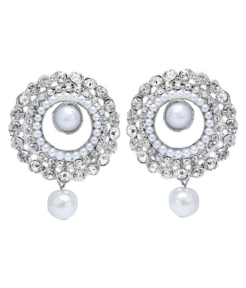 Jewels Guru Exclusive White Earrings Set
