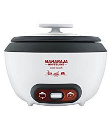 Maharaja Whiteline Cool Touch 700-Watt Multi Cooker (White)
