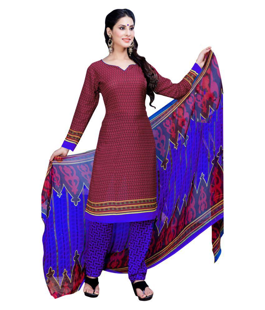 Jiya Pink Chanderi Dress Material