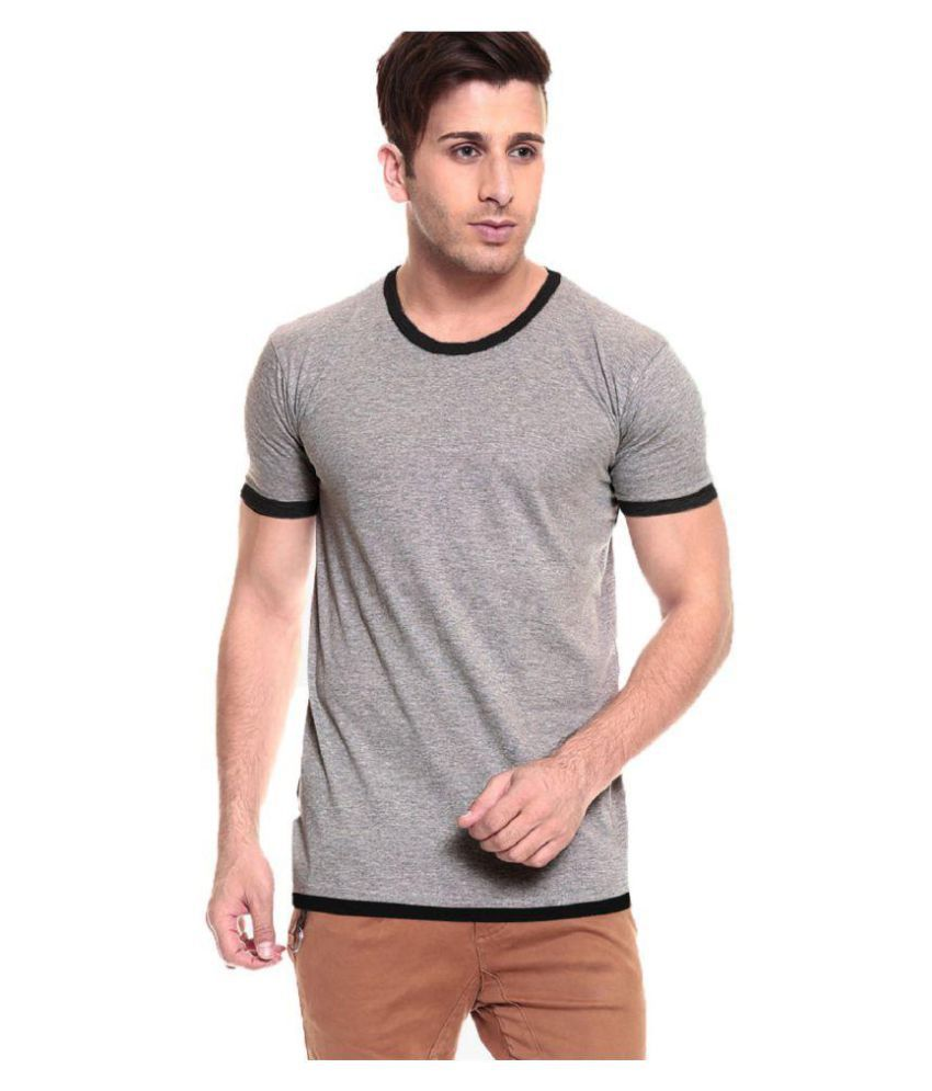Tripr Grey Round T-Shirt