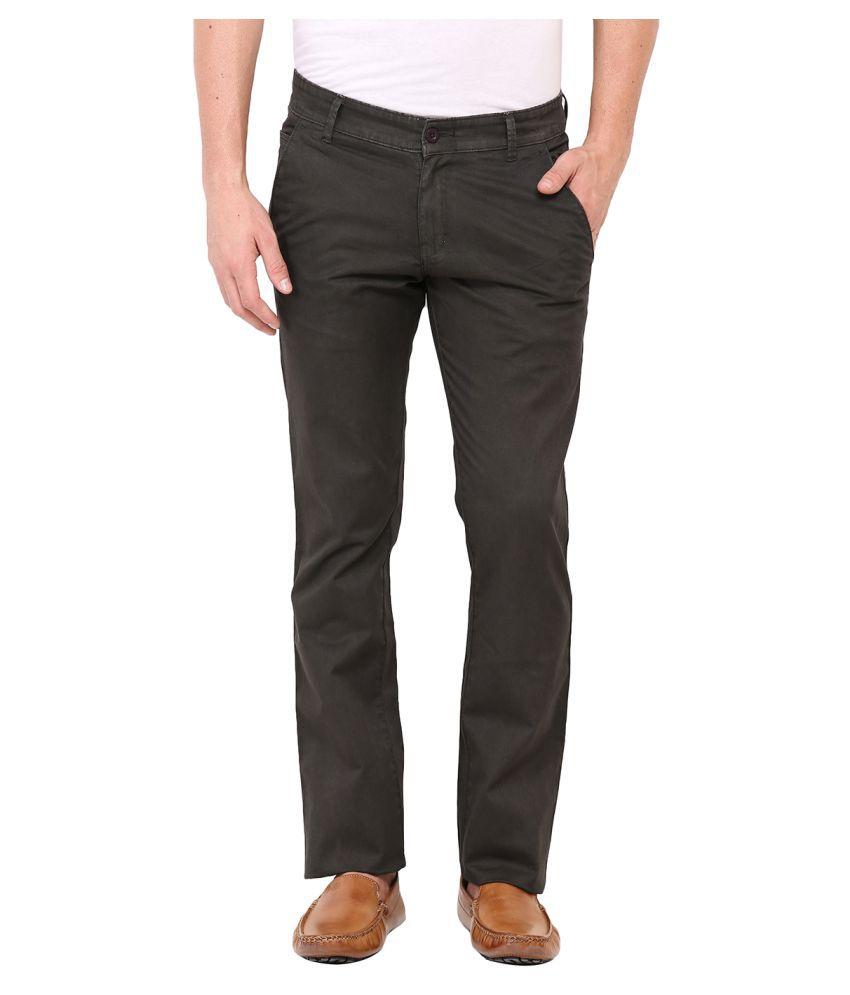 Dais Green Regular Flat Trousers