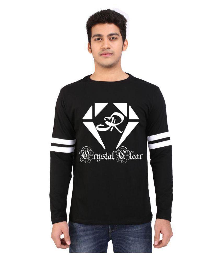 CrystalClear Black Round T-Shirt