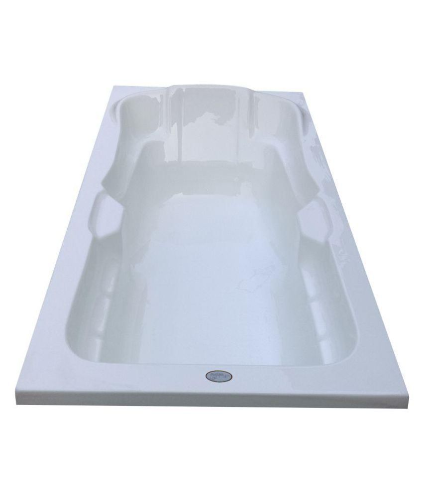Buy Madonna Elegant Acrylic Fixed Bathtub - White Online at Low ...