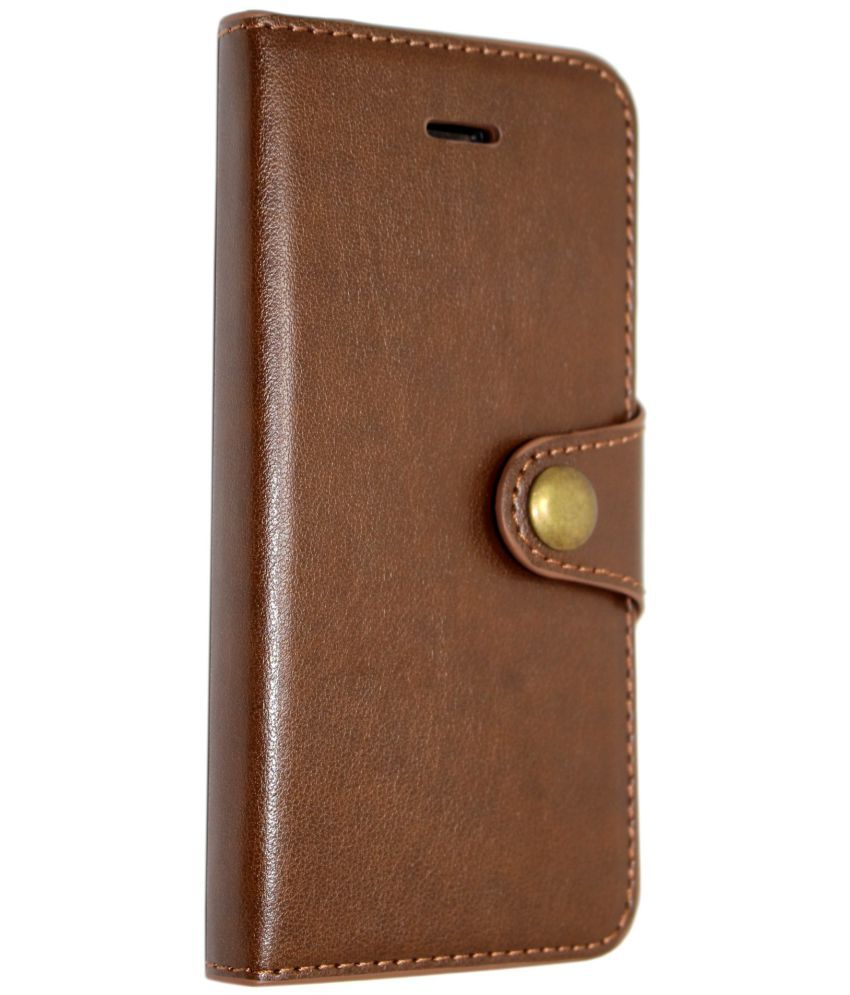 wholesale dealer ca3fa 29e9b Apple iPhone 7 Plus Flip Cover by Store At Ur Door - Brown