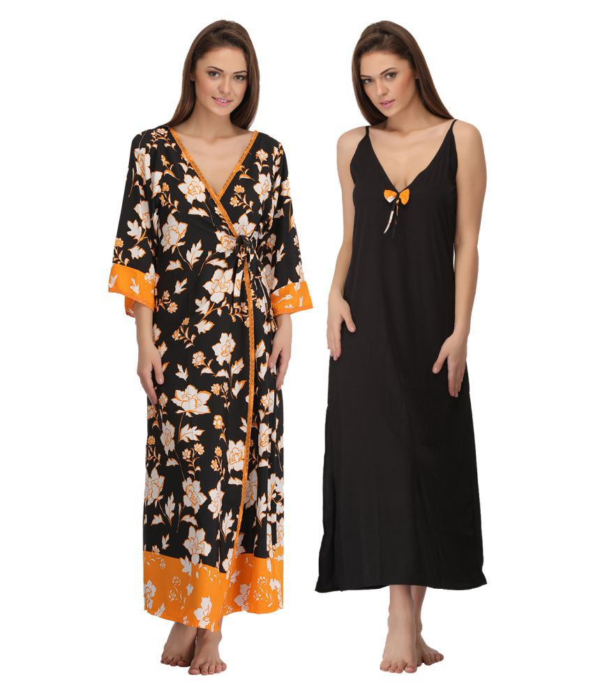 c92b9cbdb Buy Clovia Cotton Nighty   Robe Set Online at Best Prices in India -  Snapdeal