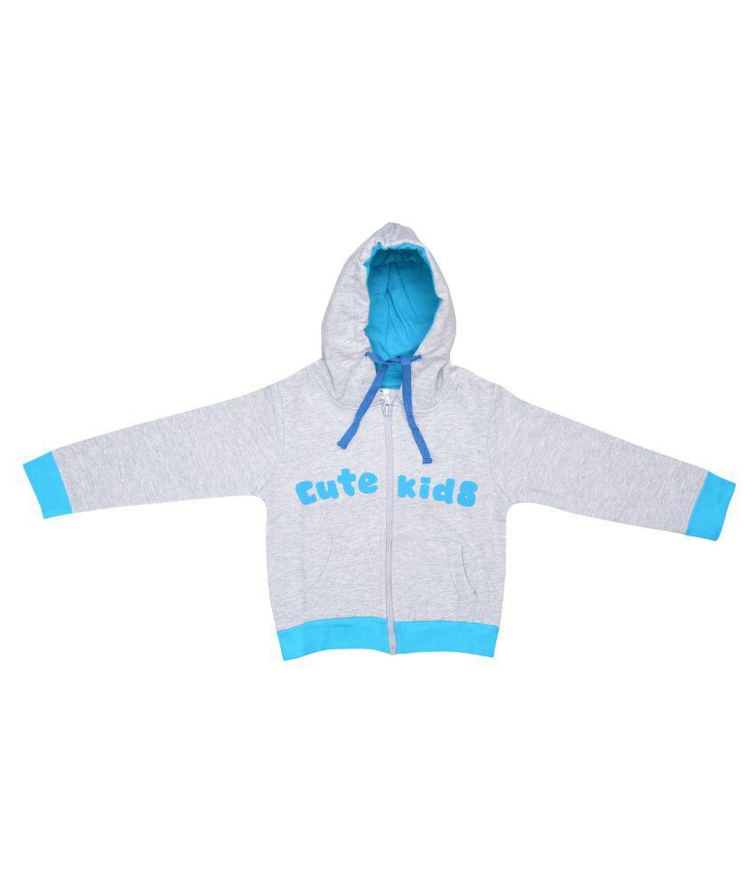 Luke and Lilly Gray Cotton Hooded Sweatshirt