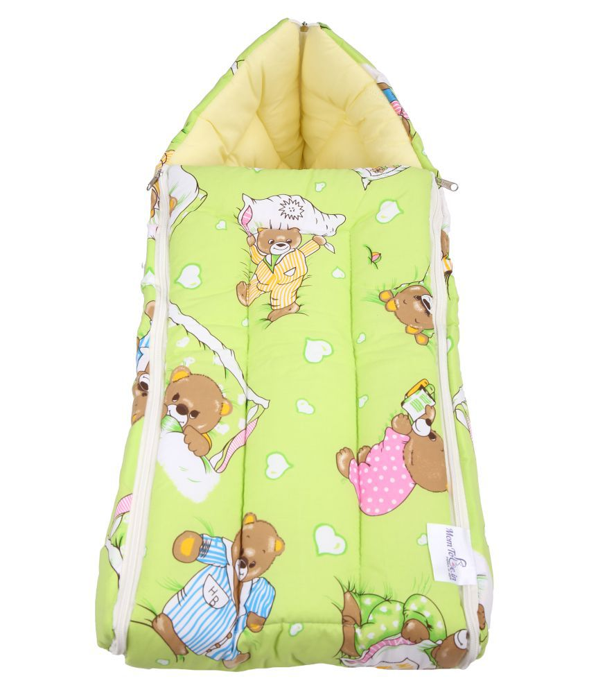 MomToBe Green Cotton Sleeping Bags ( 50 cm × 29 cm)