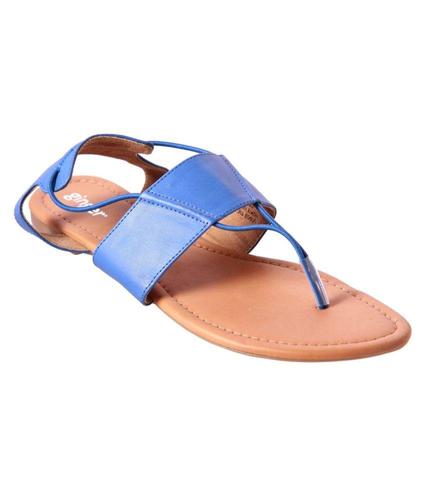 Ginger Blue Flats