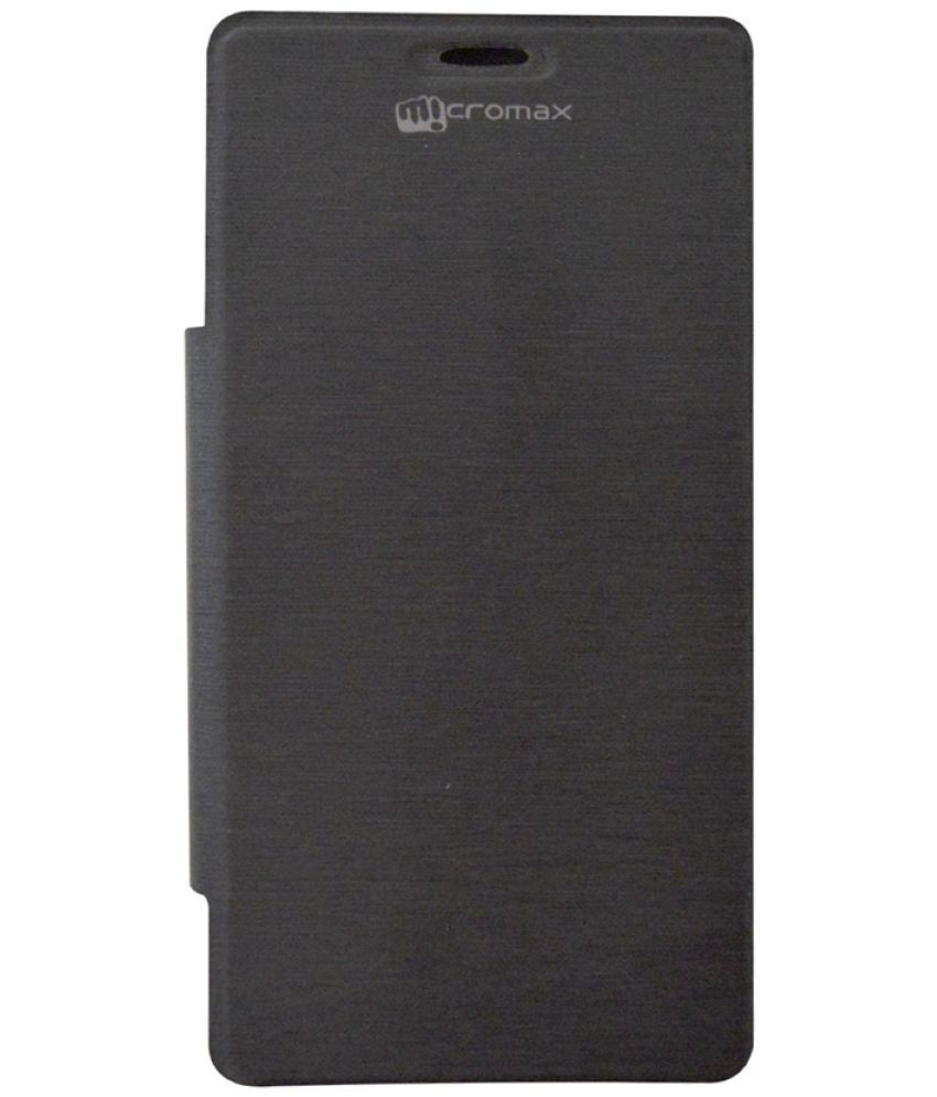 Micromax Canvas Fun A76 Flip Cover by Coverage   Black available at SnapDeal for Rs.284