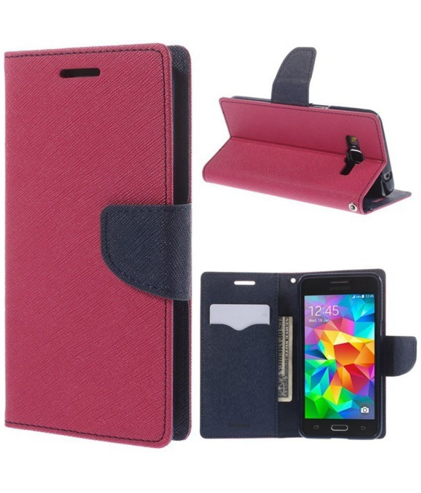 HTC Desire 626 Flip Cover by Cover Wala - Pink