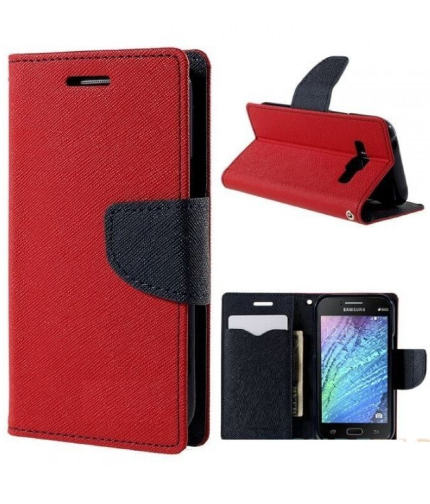 HTC Desire 728 Flip Cover by MV - Red