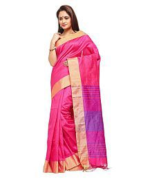 Slice Of Bengal Pink Art Silk Saree