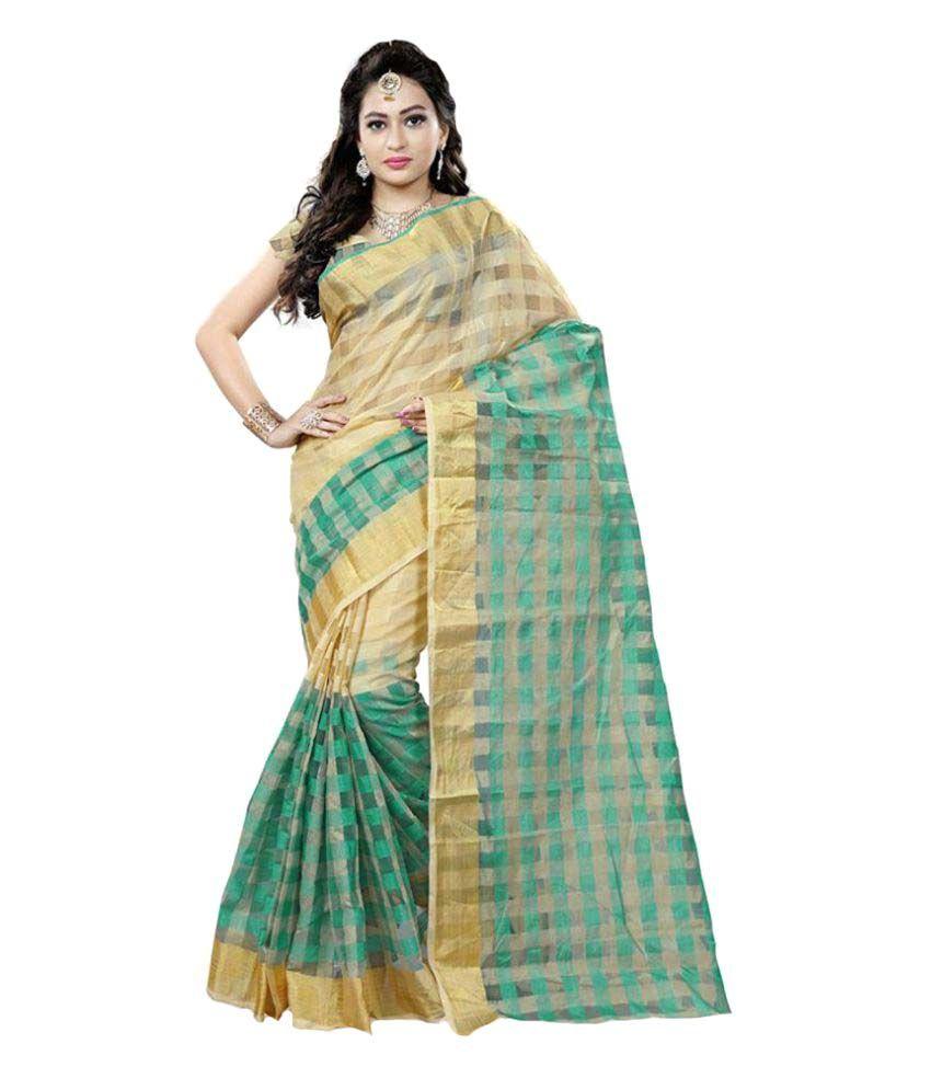 Saloni Designer Multicoloured Cotton Blend Saree