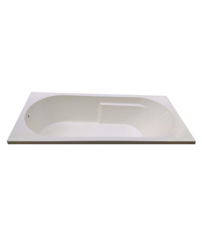 Buy Madonna Divine Acrylic Fixed Bathtub - White Online at Low Price ...