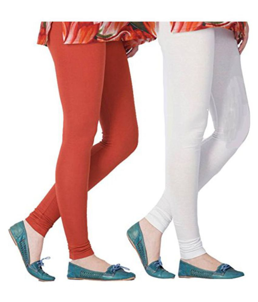 Jugend Women's Multi Coloured Premium Cotton Leggings Combo (pack Of 2)