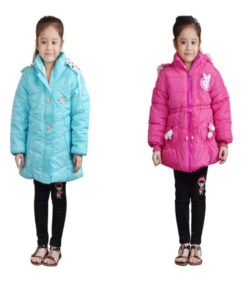 Qeboo Multicolour Jackets for Girls (Pack of 2)
