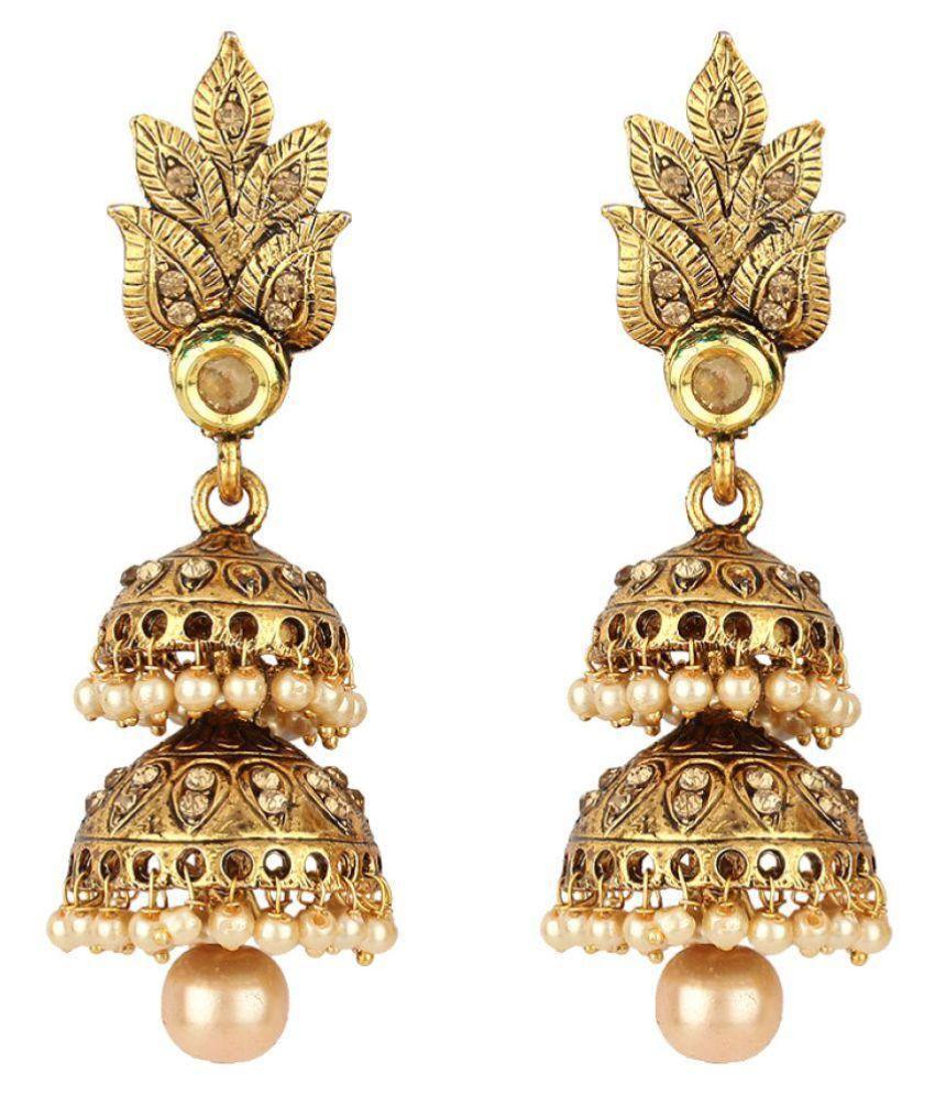 Angel In You Exclusive Golden Jhumki Earrings