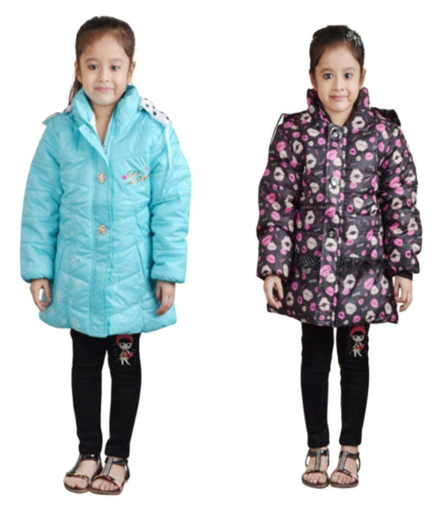 Crazeis Multicolour Quilted Jacket - Pack of 2