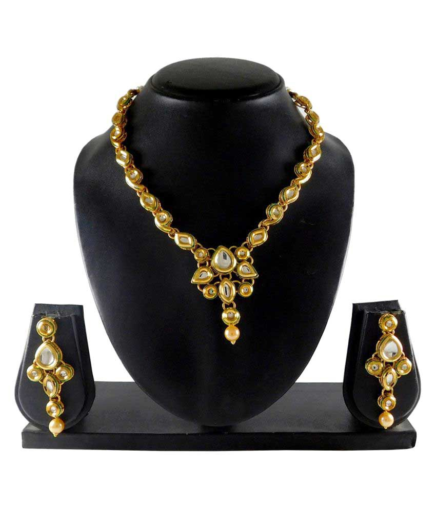Sujwel Traditional Kunda Necklace for Women-8210