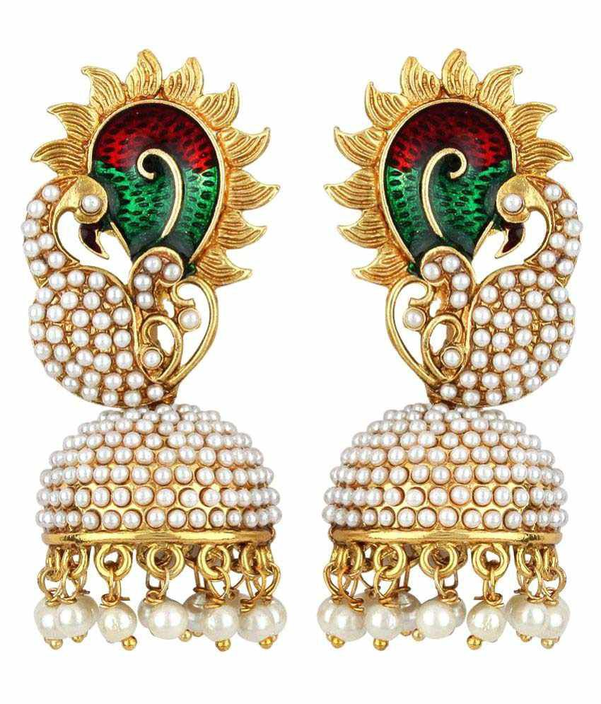 Styylo Fashion Exclusive Multicolour Jhumki Earrings