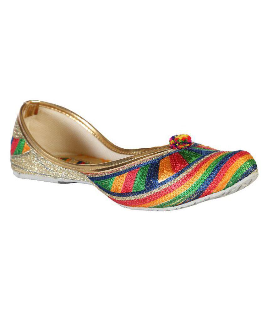 Baannaa Multi Color Flat Ethnic Footwear