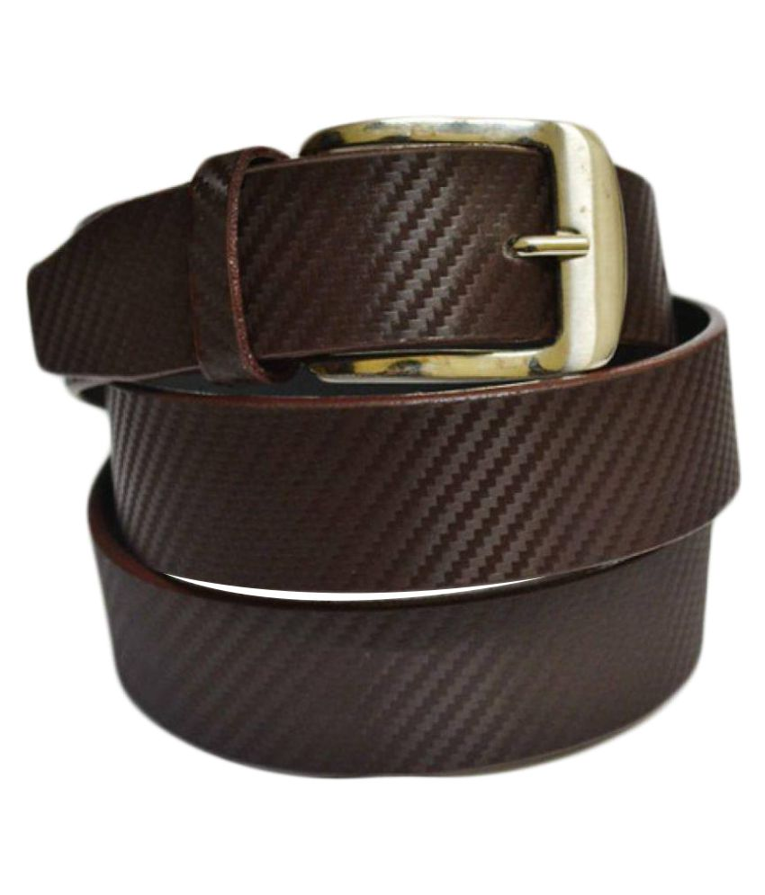 Style Brown Faux Leather Formal Belts