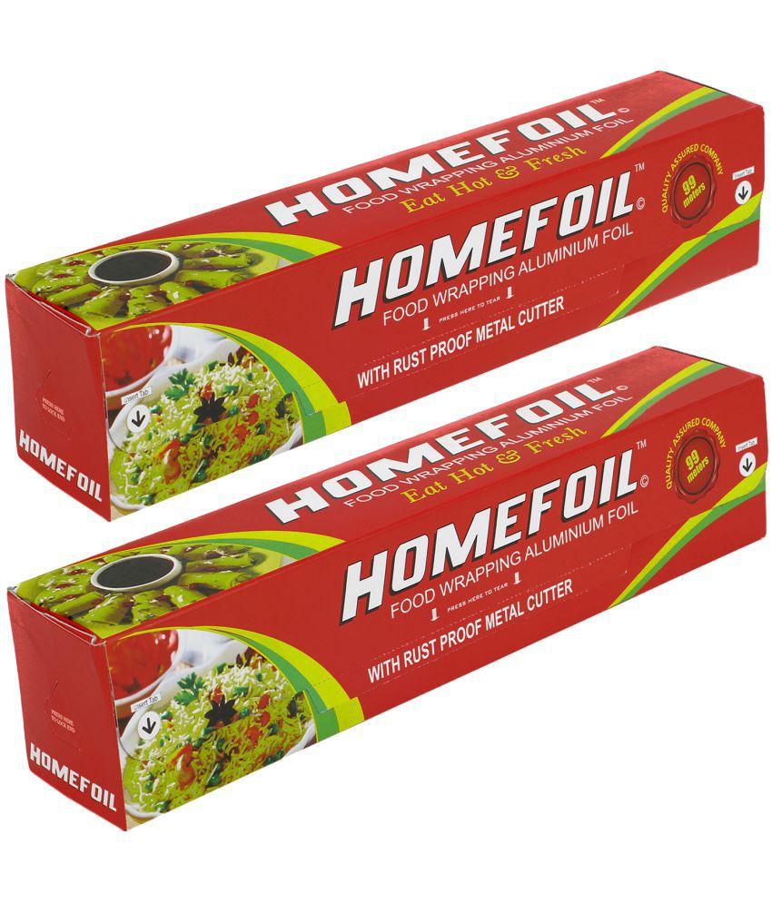 Homefoil Food Wrap Aluminium Foil Pack of 2 (99 MTR)
