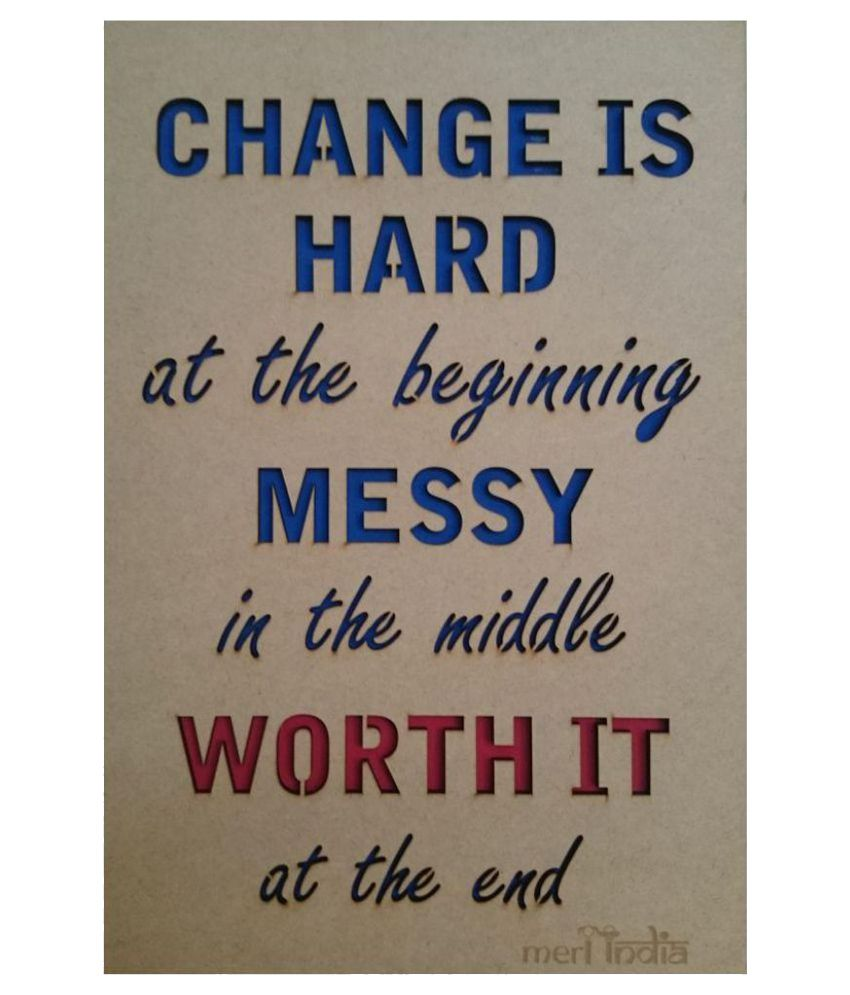Meriindia Wood Motivational Inspirational Quotes Rectangular