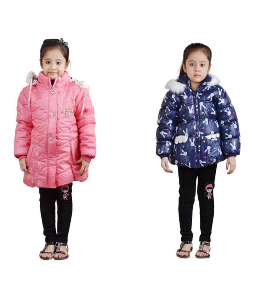 Crazeis Multicolored Nylon Jackets Combo of 2