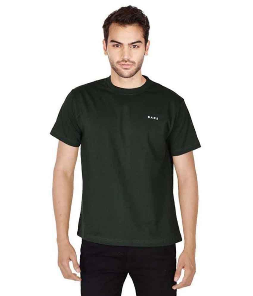 Bared Green Round T-Shirt