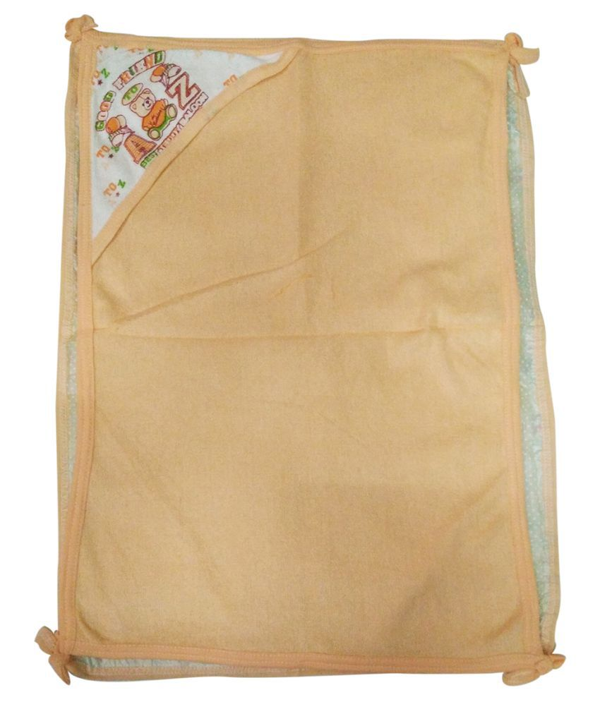 Gold Dust Orange Swaddle Cloth Baby Wrap cum blanket ( 60 cm × 45 cm - 1 pcs)