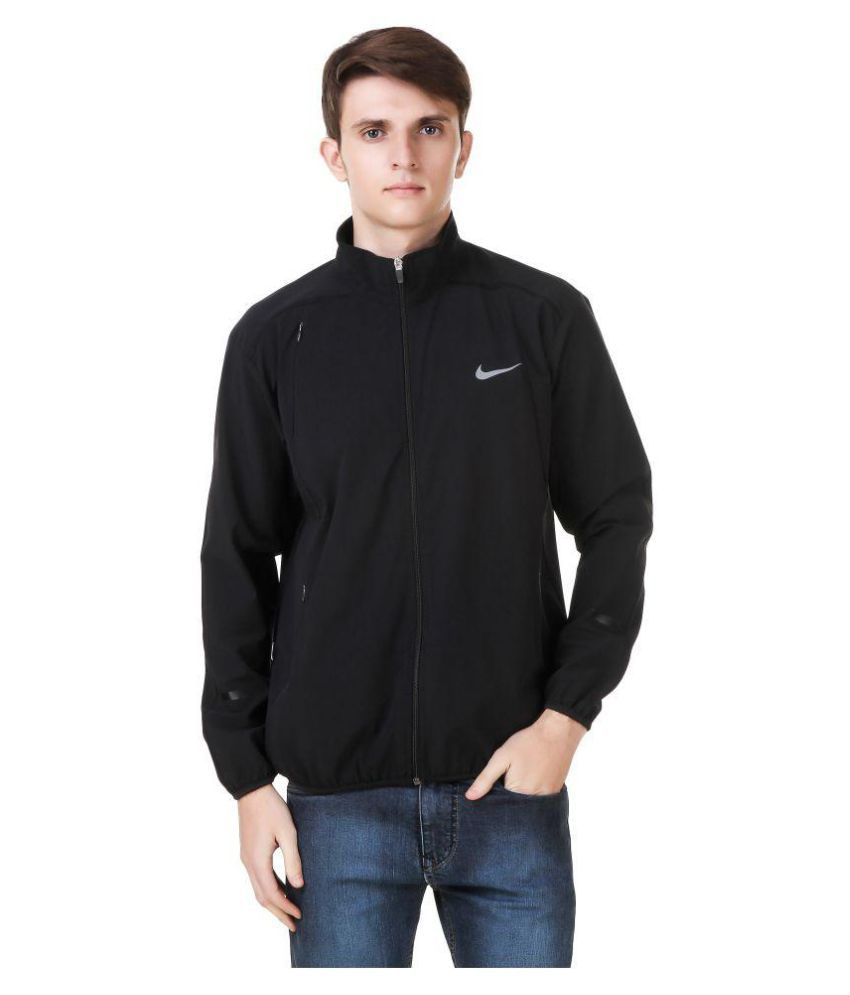 Nike Black Polyester Terry Jacket Buy Nike Black Polyester Terry