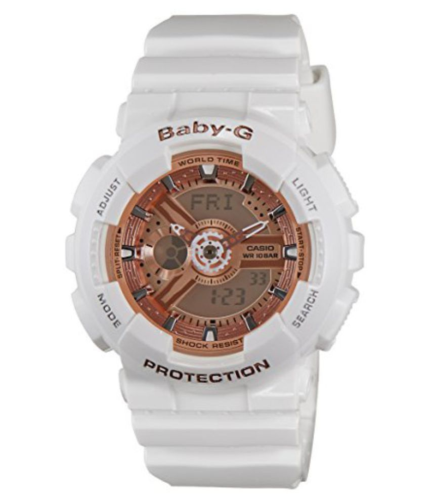 123fcafa14a Casio Baby-G Analog-Digital White Dial Womens Watch - BA-110-7A1DR (BX016)  Price in India  Buy Casio Baby-G Analog-Digital White Dial Womens Watch ...