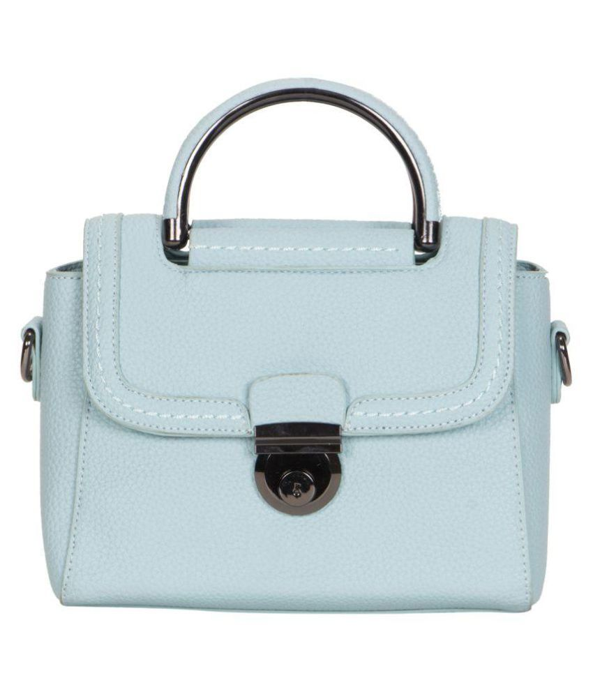 Smerize Blue Faux Leather Sling Bag