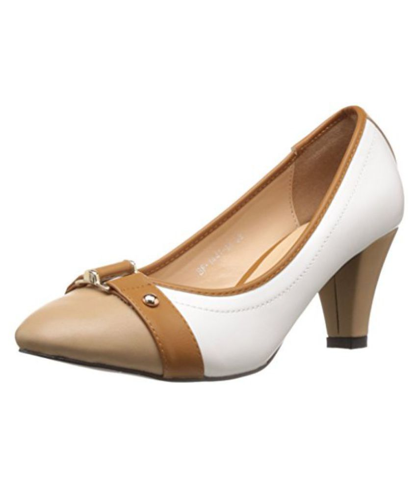 INC5 Womens White Pumps - 3 UK
